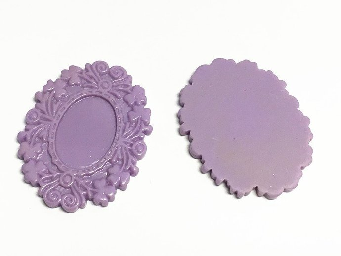 4pc 50x40mm fancy purple resin cabochon setting-10431