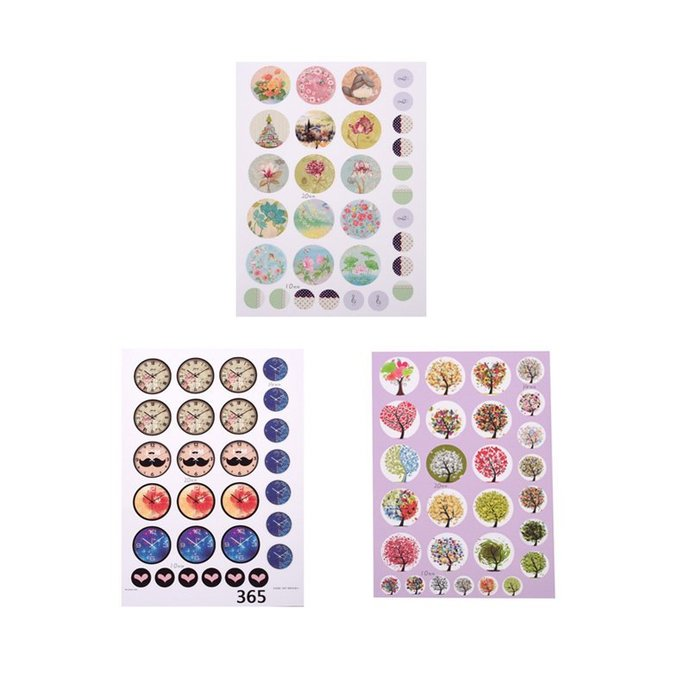 10 sheets Mix color pattern and size DIY Scrapbooking Paper  for Clear Flat