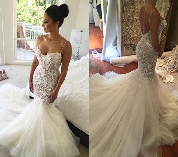a1f075287aa Mermaid Wedding Dresses 2018 New Saudi Arabic Plus Size Sweetheart Lace