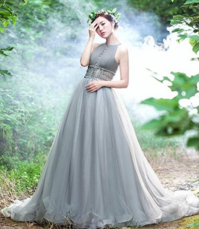 Stunning Prom Dress, modest Evening Dress,tulle Prom Dress, Long Prom Evening