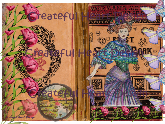 Ahna's Vintage Garden - Printable Book Cover