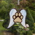 Stained Glass Dog Paw Ornament, Pet Memorial, Dog Angel, Pet Loss Keepsake,