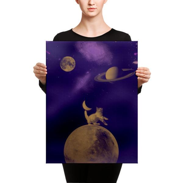 Canvas Galactic Cat
