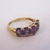 Womens Vintage Estate 14K Yellow Gold Ring w/ Amethyst, 2.5g E1953