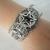 Obsidian Triple Moon Pentacle Cuff Bracelet