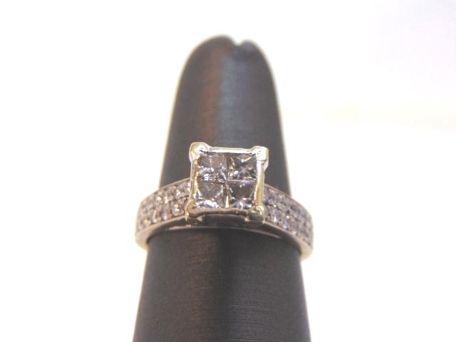 Womens Vintage Estate 18K Yellow Gold Diamond Engagement Ring 5.0g E1959