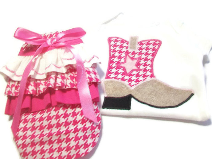 Baby Girl Outfit, Baby Cowgirl Outfit, Baby Girl Diaper Cover, Baby Girls