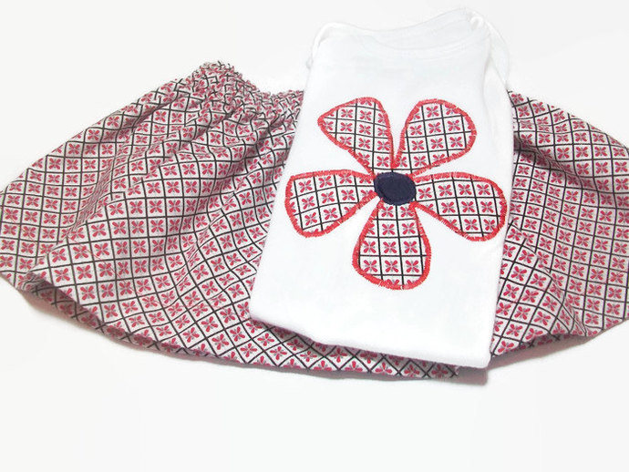 Baby Girl Outfit, Baby Girl Skirt, Baby girl fashion, Size 6 - 12 Month Girl,