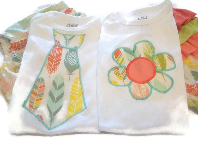 Boy Girl Twin Outfits - Cute Twin Clothes - Baby Boy Girl Twin Gifts- Twin