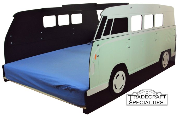 Surfer mini-bus full kids bed frame - handcrafted - themed children's bedroom