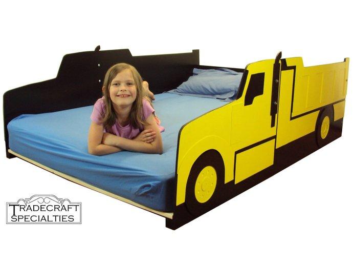 Truck full size kids bed frame - handcrafted - truck themed children's bedroom