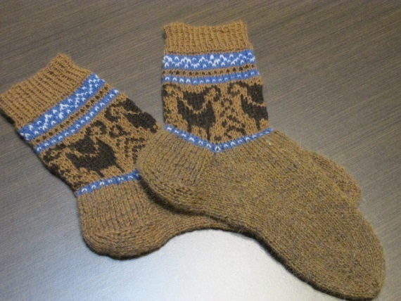 Mens Socks With The Bull Men Knit By Supermagicknitting On