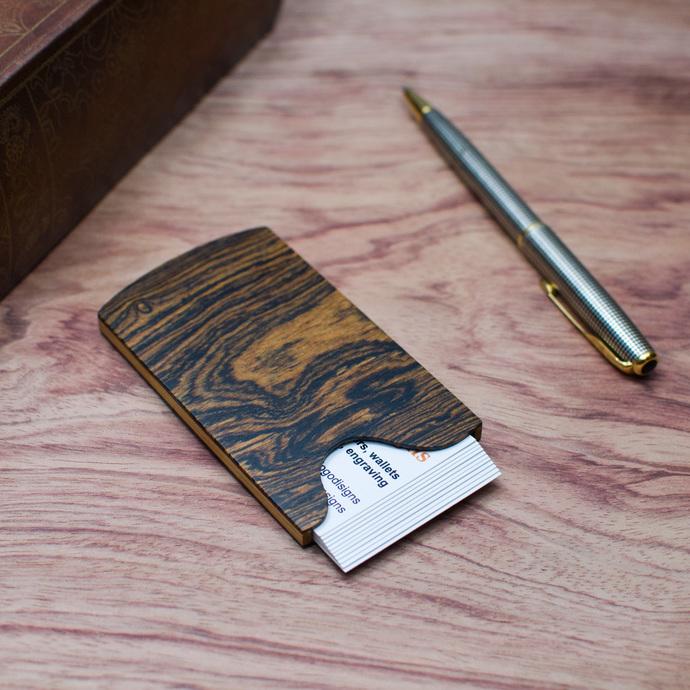 Handmade slim wood business card holder bocote by touchwood on zibbet handmade slim wood business card holder bocote colourmoves