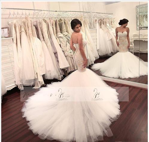 Gorgeous Church Wedding Dress, Sweetheart by Miss Zhu Bridal on Zibbet
