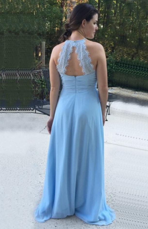 Elegant A Line Prom Dress, Long Evening Dress, Chiffon Party Dress