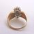 Lovely Women's Vintage Estate 14K Yellow Gold Diamond Cluster Ring 5.4g E1964