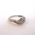 Women's Vintage Estate 14K White Gold Diamond Ring, 2.5g E1967