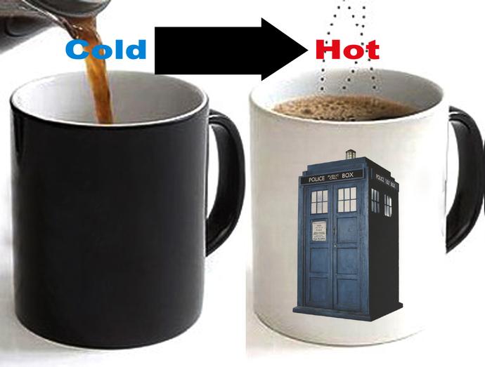 Doctor Who Tardis Color Changing Ceramic Coffee Mug CUP 11oz