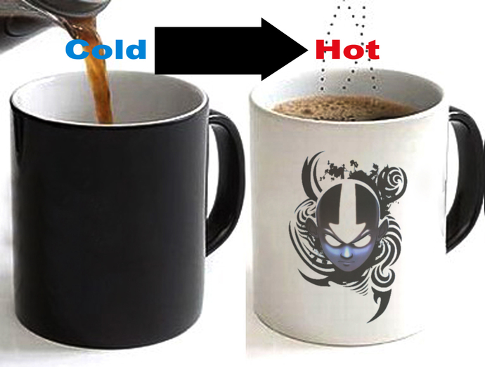 Avatar The Last Airbender Color Changing Ceramic Coffee Mug CUP 11oz