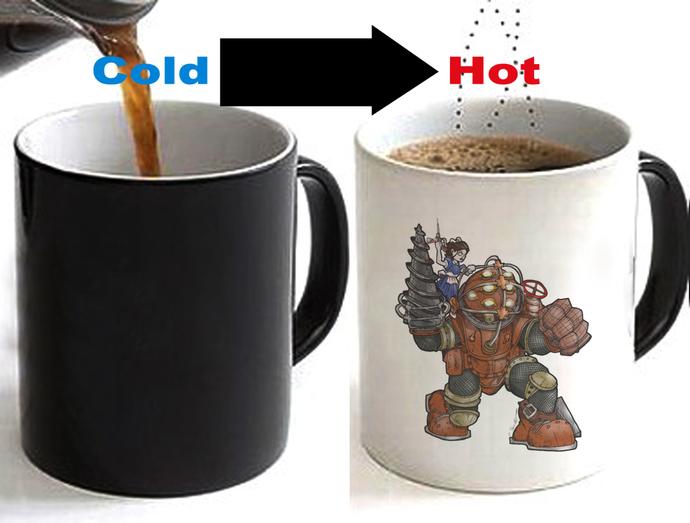BioShock Color Changing Ceramic Coffee Mug CUP 11oz