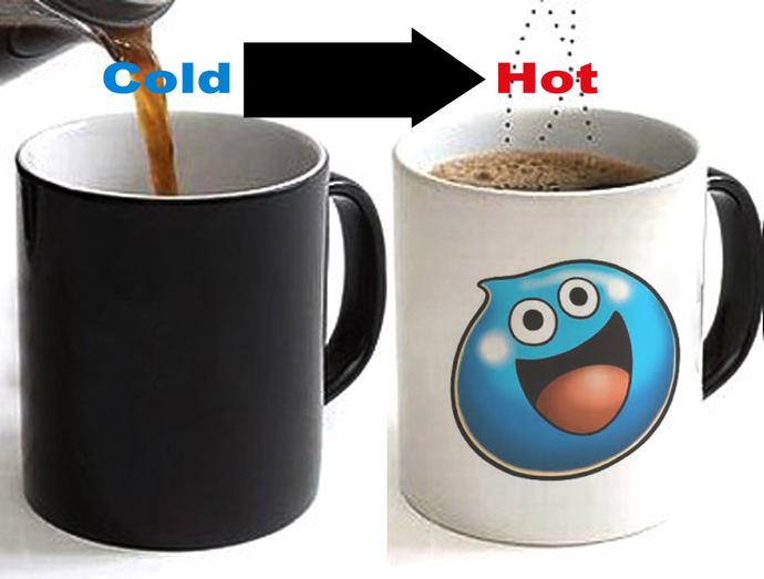 Dragon Quest Slime Color Changing Ceramic Coffee Mug CUP 11oz