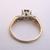 Women's Vintage Estate 14K Yellow & White Gold Ring w/ Diamonds 2.7g E1979