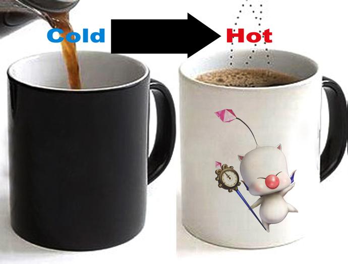 MOOGLE Color Changing Ceramic Coffee Mug CUP 11oz