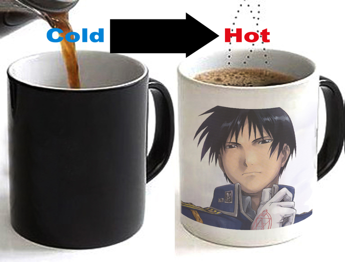 Fullmetal Alchemist Roy Mustang Color Changing Ceramic Coffee Mug CUP 11oz