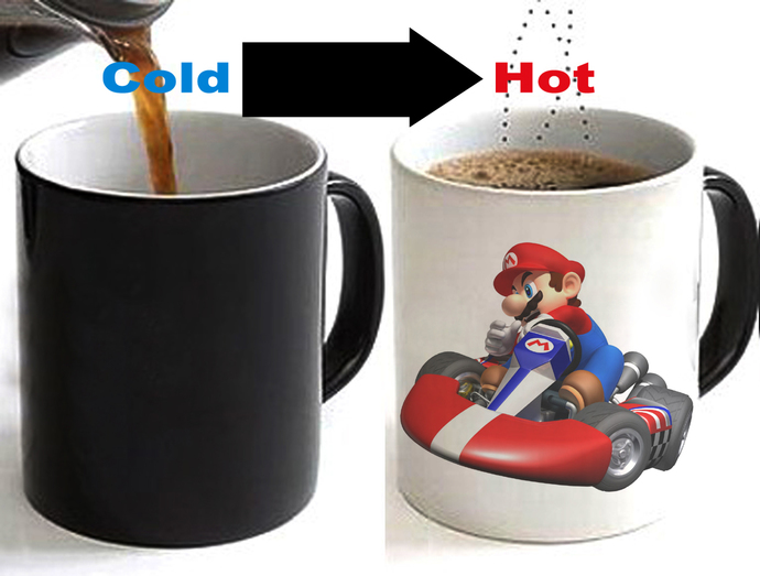 Mario Kart Color Changing Ceramic Coffee Mug CUP 11oz
