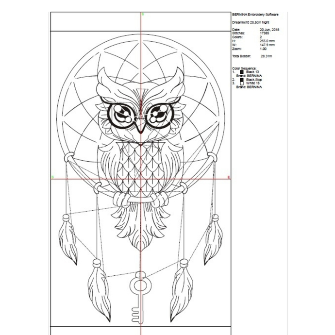 Dream Catcher Embroidery Machine Design owl feathers designs pes file pattern