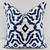 Premier Navy  & White In Chevelle  Print  Sofa Pillow cover. Throw pillow cover.
