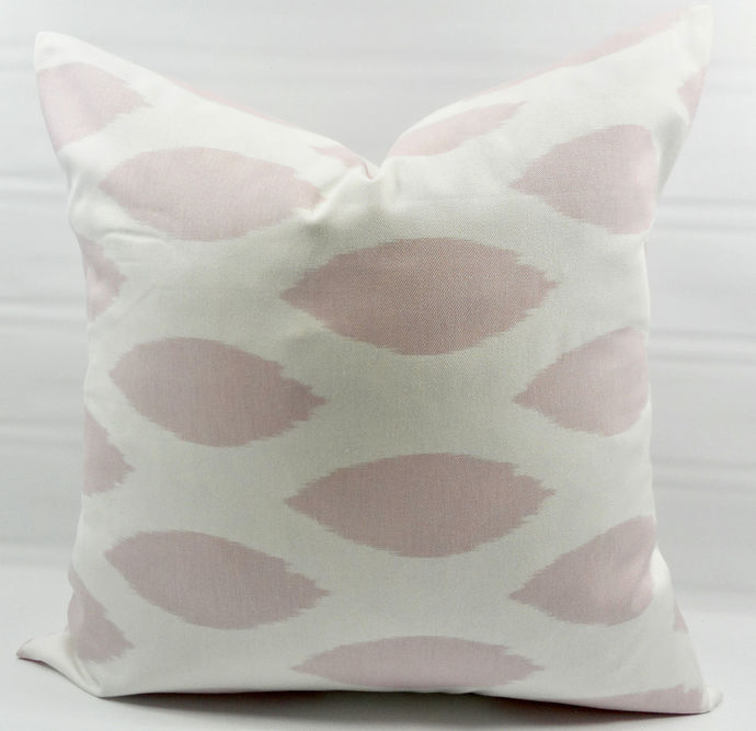 Bella Pink  & White In Chipper Print  Sofa Pillow cover. Throw pillow cover.