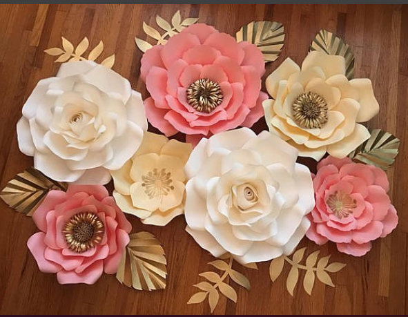 Unicorn set paper flower backdrop by preciosa design on zibbet unicorn set paper flower backdrop wedding flower wall nursery decor giant mightylinksfo