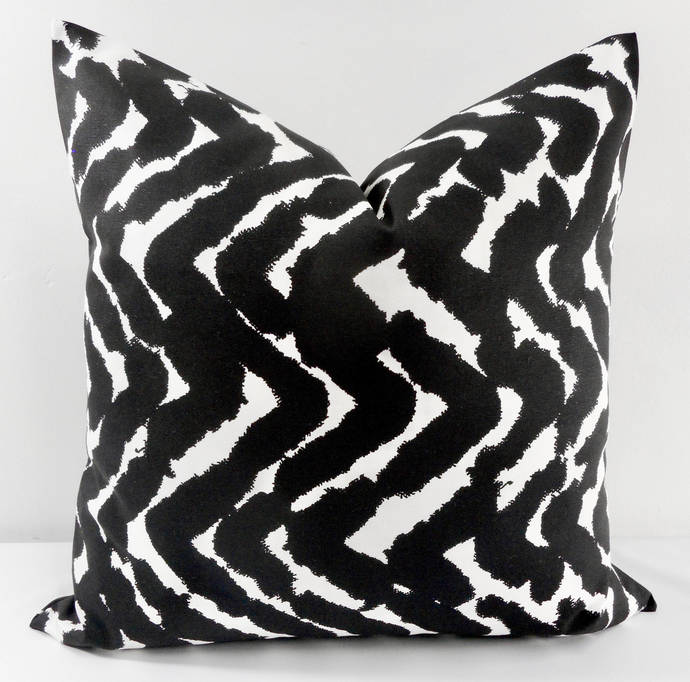 Black  & White   In Cosmic Print. Sofa Pillow cover. Throw pillow cover. Euro
