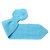 Toddler Knit Scarf. Kids Blue Pull Thru Neck Wrap. Boy Keyhole Muffler 2 to 4