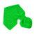 Toddler Knit Scarf. Kids Green Pull Thru Neck Wrap. Keyhole Muffler 2 to 4