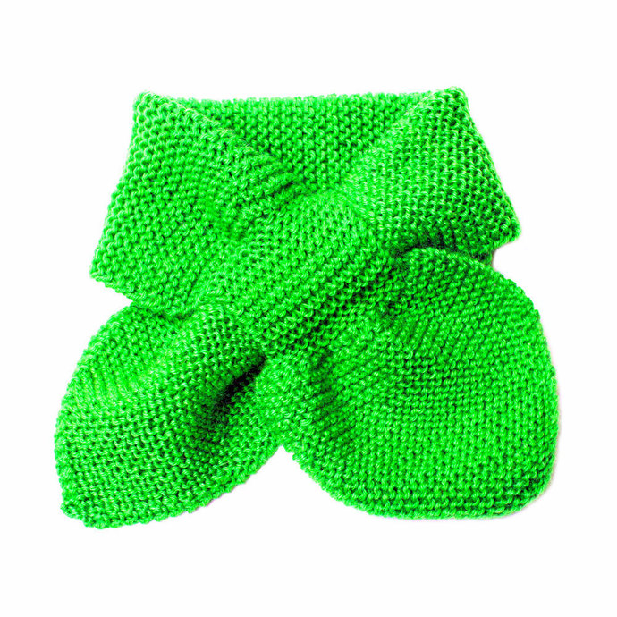 Knit Scarf, Green, Toddler 2 to 4 Years