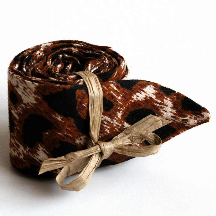 Leopard Print Cool Tie. Polymer Filled Neck Cooler. Cooling Neck Wrap. Necktie.