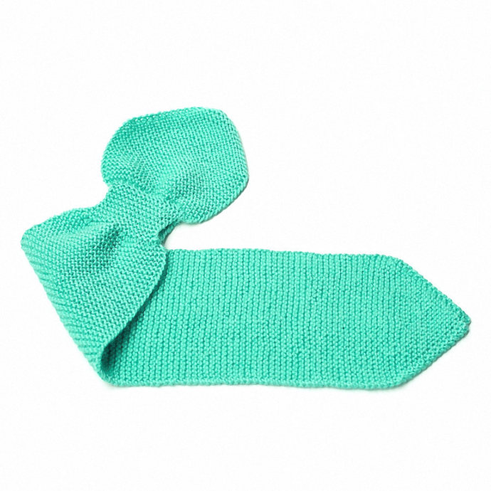 Kid's Knit Neck Scarf, Turquoise