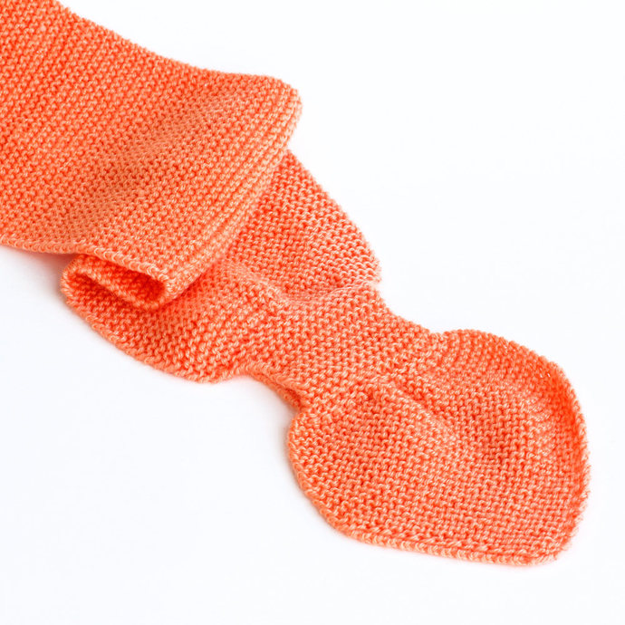 Toddler Knit Scarf. Kids Orange Pull Thru Neck Warmer. Keyhole Muffler 2 to 4