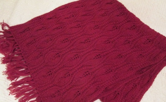 Women's knitted scarf, merino wool scarf, READY TO SHIP, knitted scarf,