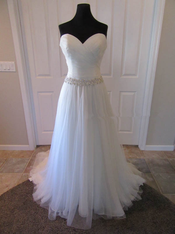 Sexy Sweetheart White Tulle Wedding Dress, Elegant Wedding Gown