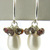 Pearls and Sapphires Earrings - handmade artisan sterling silver cluster dangle
