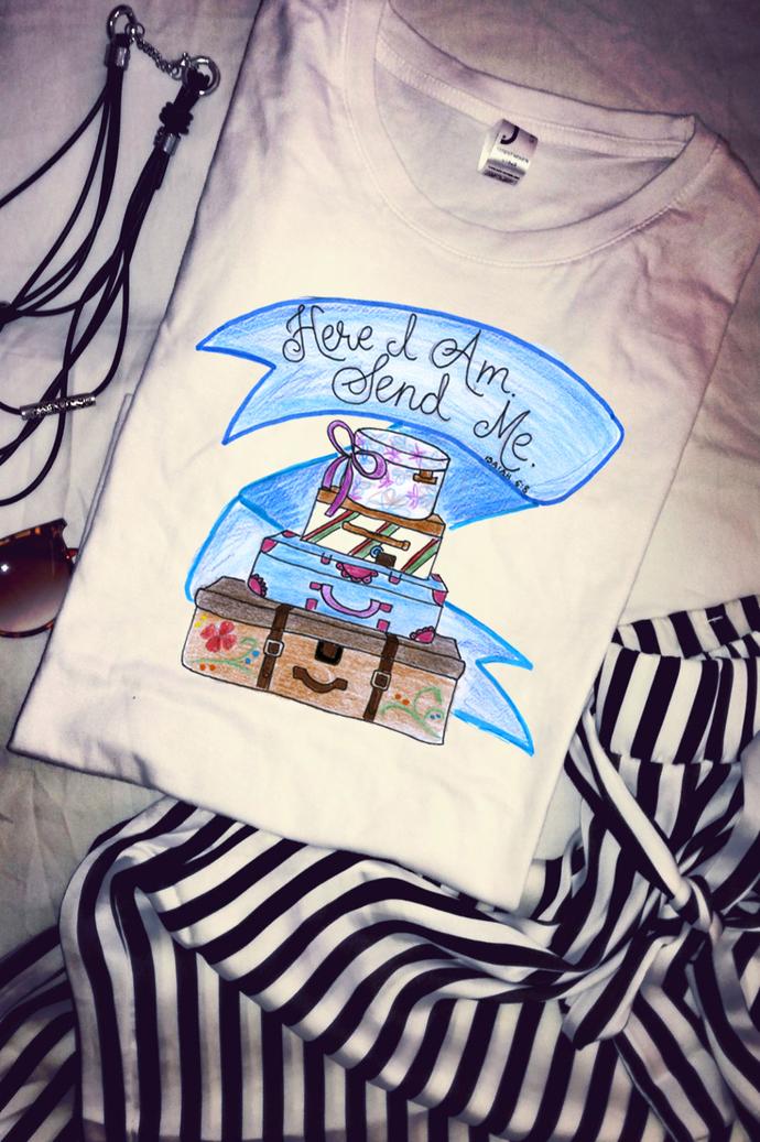 Here I Am Send Me Presents Isaiah 6:8, Christian Gift, Woman T Shirt Tee, High