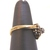 Womens Vintage Estate 10K Gold Heart Ring w/ Diamonds 3.4g E1984