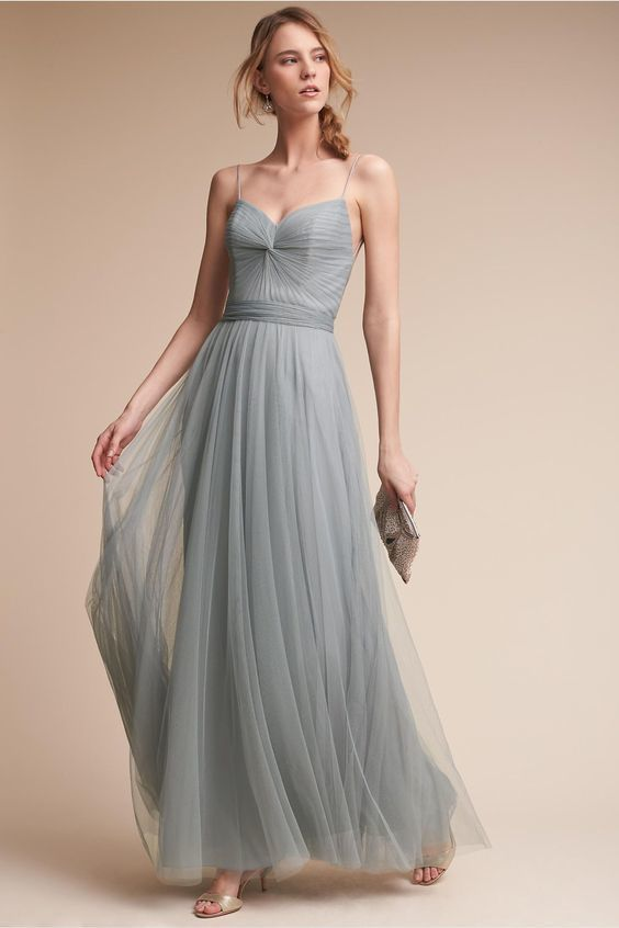 4190152923d Grey Tulle Bridesmaid Dress