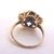 Womens Vintage Estate 10k Yellow Gold Eastern Star Masonic Ring, 3.0g E1997