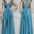 Charming Prom Dress,Satin Prom Dress, Long-Sleeves Prom Dress,Two Pieces Evening