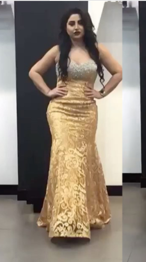 Lace Prom Dresses, Yellow Prom Dresses, Sweetheart Prom Dresses, Fashion Evening
