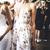 V-neck A-line Flower Tulle Prom Dresses, Long Prom Dresses, Charming Prom